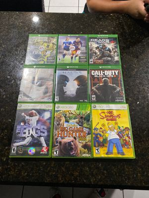 6 Xbox one games, 3 Xbox 360 for Sale in Fort Lauderdale, FL