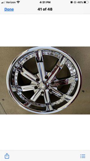 "Set 20"" Echelon Rolexx, chrome, 6x139.7, new in box, set all GM Trucks and SUV, sell all 4 Rims, $699.00 for Sale in Pomona, CA"