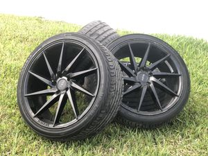 4 20 INCH RIMS WITH TIRES (245/35 R20) 5x112 for Sale in Miami, FL