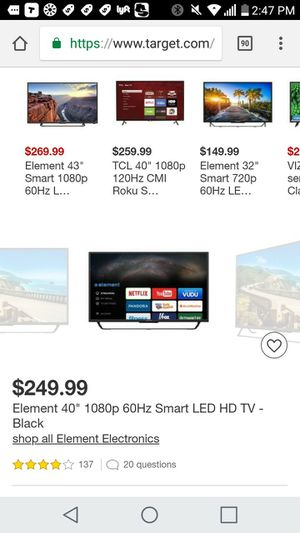 Brand new 40 inch element tv for Sale in Jacksonville, FL