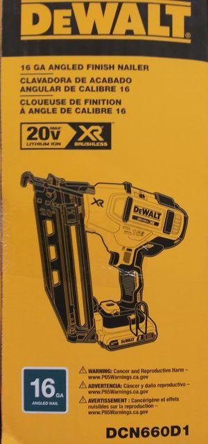 Dewalt 20 vlexvolt 16 g cordless angle finish nail gun for Sale in Portland, OR