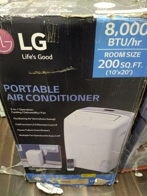 LG Portable Air Conditioner 8,000 BTU Open Box $250 for Sale in Paramount, CA