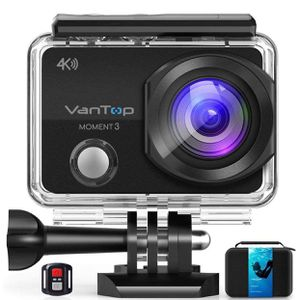 VanTop Moment 3 4K Action Camera w/Gopro Compatible Carrying Case for Sale in Garland, TX