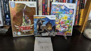 Mario party 9 and zelda: skyward sword for Sale in Traverse City, MI