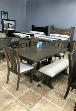 💦. BRAND NEW. 💦Quincy Grayish Brown Rectangular Dining Set IN STOCK SAME DAY DELIVERY for Sale in Beltsville,  MD