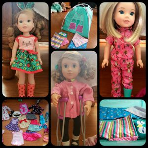2 AMERICAN GIRL DOLLS AND 1 OUR GENERATION Doll for Sale in Browns Mills, NJ