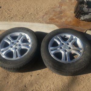 2 OEM 16 INCH RIMS AND TIRES for Sale in Hesperia, CA