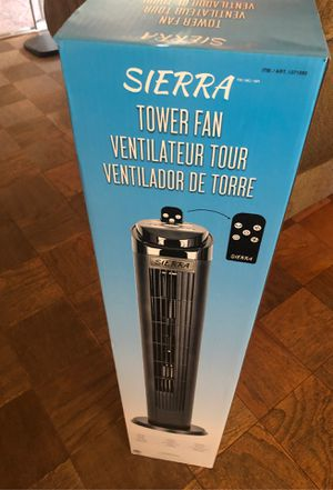 Sierra 40in tower Fan with remote control for Sale in Pico Rivera, CA