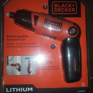 Black and Decker Rechargable Screwdriver for Sale in Mesick, MI