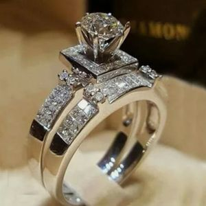 925 Sterling Silver Wedding Ring Set Size 10 for Sale in Wichita, KS