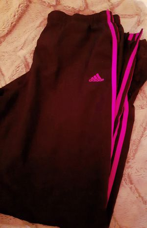 Adidas Black/Hot Pink Track Pants for Sale in Birmingham, AL