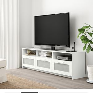 Free White IKEA Tv Stand Must Pick Up Very Heavy Need 2 People for Sale in Philadelphia, PA