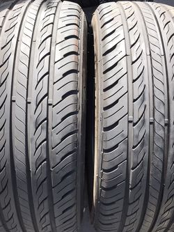 """16"""" tires semi new 235/60/16 with free installation $90 for Sale in Huntington Park,  CA"""