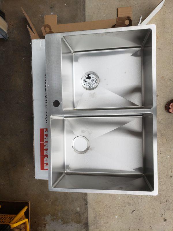 Brand new stainless steel kitchen sink
