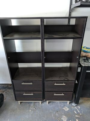 Bookcases or Dinette Storage Shelves with Drawers for Sale in Portland, OR