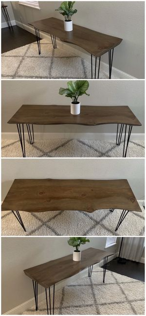 6FT x 2FT Solid Wood Rustic Modern Industrial Live Edge Dining Table for Sale in San Jose, CA