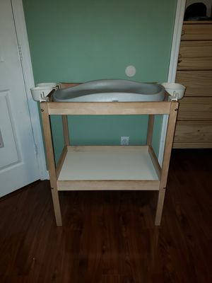 Baby changing table with accessories for Sale in Port St. Lucie, FL