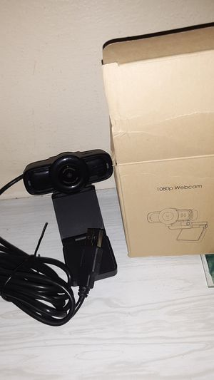 Dericam auto focus, live streaming webcam. USB plug and play, desktop/laptop, rotatable clip. New in box for Sale in Fort Wayne, IN