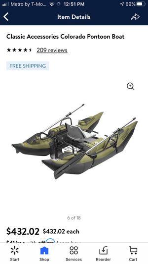 Kayak Canoe boat Classic accessories Colorado pontoon boat for Sale in San Antonio, TX