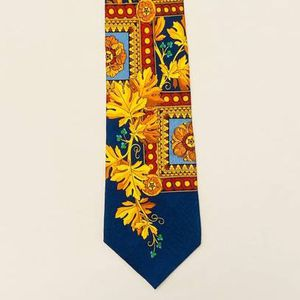 Rush Limbaugh No Boundaries necktie neck tie blue with autumn leaves fall leaves 1996 for Sale in Phoenix, AZ
