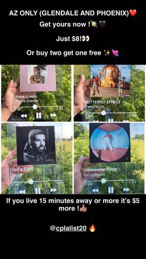 SPOTIFY ALBUM COVER GLASS FRAME ❤️ for Sale in Glendale, AZ