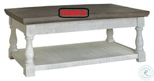 NEW IN THE BOX. HAVALANCE GRAY/WHITE LIFT-TOP COFFEE TABLE, SKU# T814-9WT for Sale in Garden Grove, CA