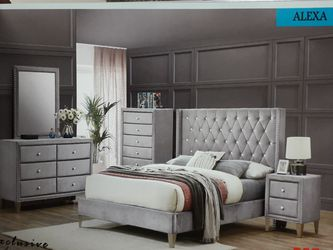 Brand new grey diamond bedroom set for Sale in Baltimore,  MD
