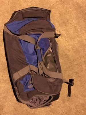 Blue Gray duffel bag with rollers for Sale in Houston, TX