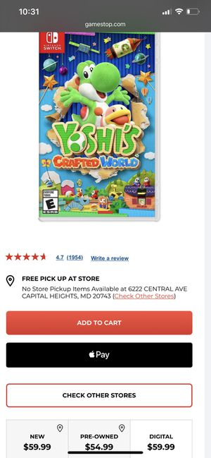 Brand new Yoshi's crafted world for Sale in Seat Pleasant, MD