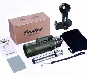Pankoo 40x60 Monocular Telescopes High Power Prism Monocular HD Dual Focus Scope for Sale in Fresno, CA