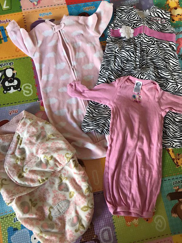 Baby fleece clothes and sleeping bag 0-6