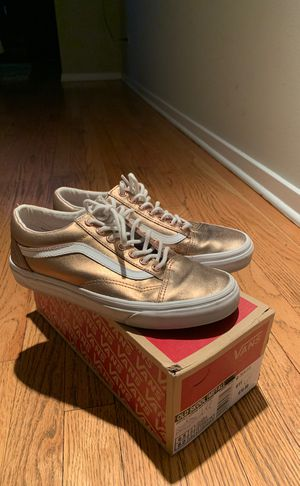 Metallic Rose Gold Vans Size 8.0 Women's for Sale in Chicago, IL
