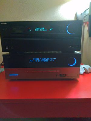 2 BAD ASS RECIEVERS ONKYO TX-NR609 HARMEN/KARDEN AVR 145 for Sale in Las Vegas, NV