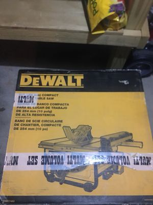 Dewalt Table Saw with stand for Sale in Fort Leonard Wood, MO