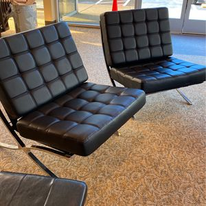 2 Modern Black Chairs for Sale in Everett, WA