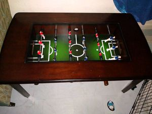 Foosball coffee table...has glass that lays across for Sale in Abilene, TX