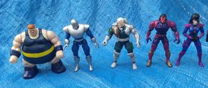 X-Men X-Force Action Figure Lot ToyBiz 1990's Cable Blob Domino Avalanche Exodus Vintage Collectible for Sale in Pasadena, CA