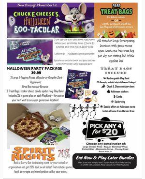 Chuck E. Cheese's Halloween Boo-tacular for Sale in Huntington Beach, CA