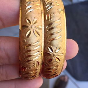 """22k gold plated bangles size 2-6"""" and 2-8"""" available for Sale in Silver Spring, MD"""