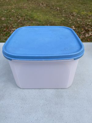 Tupperware Light Blue 23 Cups Storage Container for Sale in Fairfax, VA
