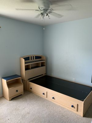 Ashley's Furniture Twin size blue bed set for Sale in Sebastian, FL