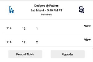 Los Angeles Dodgers vs San Diego Padres Tickets for sale! for Sale in San Diego, CA