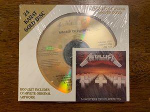 New Metallica Master of Puppets 24 Karat Gold CD for Sale in Denver, CO