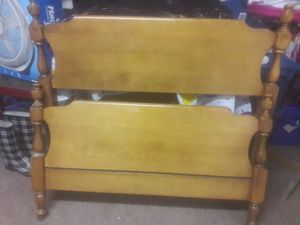 Twin wooden bed frame for Sale in Philadelphia, PA