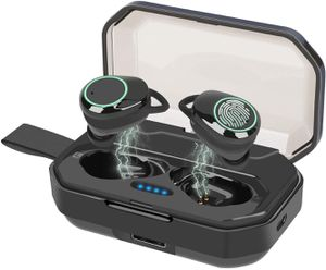 LANIC Wireless Earbuds, Bluetooth 5.0 in-Ear Stereo Bluetooth Headphones with Mic,Noise Cancelling IPX7 Sweatproof Wireless Sports Earphones,Hands-Fr for Sale in Philadelphia, PA
