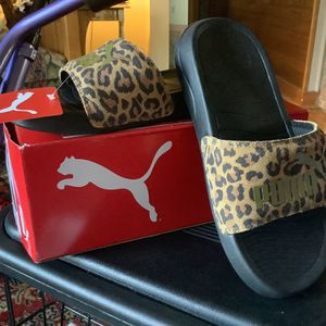 PUMA Popcat 20 Women's Leopard Print Slides Size 5 1/2. Brand New! Ordered Wrong Size. Meet At Safeway On 41st Rucker In Everett North Side. for Sale in Everett, WA