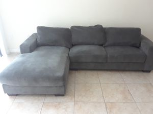 Grey 2 Piece Couch with Pillows for Sale in Lauderhill, FL