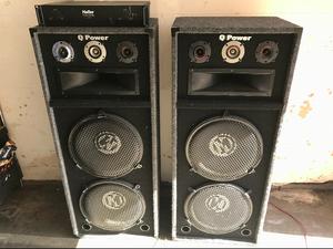 Q Power DJ Speaker Pair & Amplifier for Sale in Bellaire, TX