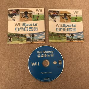 Nintendo Wii Sports video game complete disc case manual for Sale in Burtonsville, MD