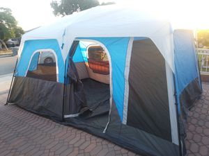 10 Person Instant Up Cabin Camping Tent with LED Light (Firm) for Sale in Gardena, CA